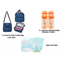 Autumnz - Posh Cooler Bag Package with Free Gift (Lake Blue)